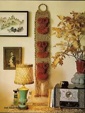 Owl Spice Rack Pattern - Rare Craft Book: #906 Macrame for Today's Beginner