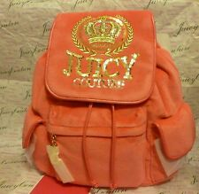NEW JUICY COUTURE CREST VELOUR BACKPACK SCHOOL BAG ~ NWT