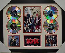 ACDC SIGNED MEMORABILIA FRAMED 4 CD LIMITED EDITION