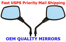 Pair of Black Square Head Motorcycle Mirrors - Suzuki DR200 DR350 DRZ400 DR650