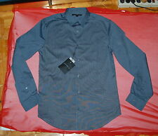 NWT JOHN VARVATOS USA mens LS slim fit  blue steel stripe casual shirt S