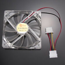 120mm Cooling Fans 4 LED Blue Light for PC Computer Case Cooling 4 Pin New