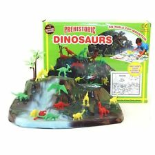 KIDS CHILDRENS DINOSAUR MOUNTAIN PLAYMAT CRAYONS DINOSAURS PLASTIC TOYS JURASSIC