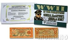 WWII IN THE PHILIPPINES: General MacArthur's Guerilla Money - 5 Peso Banknote
