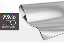 VViViD White Matte car vinyl wrap 1ft x 5ft sticker 3mil paint-protect decal XPO