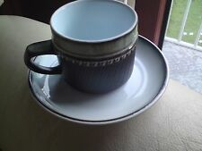 Denby RONDO Stoneware TEA or COFFEE CUP & SAUCER Tableware, VGC, FREE-MAILING.
