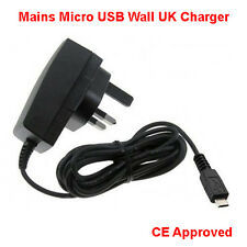 CHARGER FOR TESCO HUDL TABLET - MICRO USB COMPATIBLE UK MAINS WALL PLUG POWER