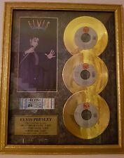 Elvis Presley  oro 24 karati 3 dischi con biglietto concerto e certificazione!!!