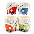 VW CAMPER VAN SHAPED MUG SPLITTIE CERAMIC NOVELTY RED BLUE GREEN ORANGE TEA CUP