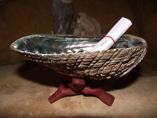 ABALONE SMUDGE KIT FOR WHITE SAGE WITH SHELL STAND PURIFICATION POSITIVE ENERGY
