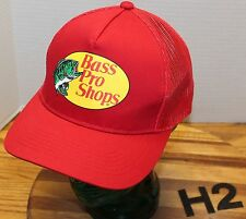 VERY NICE BASS PRO SHOPS RED TRUCKERS HAT SNAPBACK ADJUSTABLE EXCELLENT COND