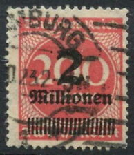 Germany SG#302a 2m On 200m Rose-Red Used #A85110