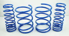 "Honda Civic 2001-2005 2/4DR 2"" Front Rear Suspension Lowering Springs Kit - Blue"