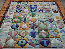 "Handmade Patchwork Panel Quilted / Throw - 40"" x 50"""