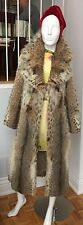 VINTAGE LYNX SPOTTED PRIME FUR FULL LENGTH FUR COAT JACKET size SM