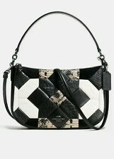 NWT 38296 Coach Canyon Quilt Chelsea Exotic Leather Handle Crossbody purse $295