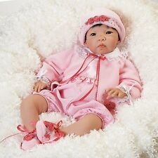 "Lifelike Realistic Asian Newborn Weighted Baby Girls Doll ""Nischi"" Alive Reborn"