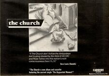 20/3/1982Pg37 Album Advert 7x10 The Church/the Church