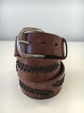 Full Grain Strong leather belt with studs 85-95cm Made In Germany