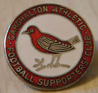 CARSHALTON ATHLETIC Vintage SUPPORTERS CLUB Badge Maker TOYE KENNING 26mm x 26mm