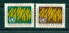 Nations Unies New York 1963 - Michel n. 126/27 - Contre la faim