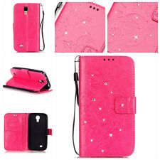 Bling Butterfly Wallet Leather Flip Case Cover For Samsung Galaxy S2/S4/S5/G800