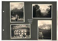 4 Fotografie DOLOMITI PORDOI 1958 OTTIMO Photograph Photo Trentino