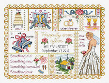 Cross Stitch Kit ~ Wedding Collage Sampler Marriage Record #021-1414
