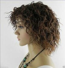 CHSW01 vogue short mixed brown curly natural hair wigs for women wig