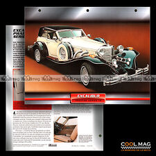 #007.02 ★ EXCALIBUR PHAETON SERIES IV (4) 5.0 V8 1980 ★ Fiche Auto Car card