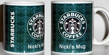 STARBUCKS PERSONALISED MUG cup tea coffee  Printed Mug YOUR NAME Birthday Gift