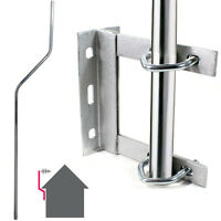 TV Aerial Wall Mounting Kit - Cranked Offset Pole/Mast & Outdoor Bracket