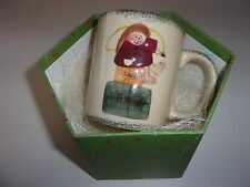Angel Christmas Packages Coffee Mug Cup with Snowman in Box