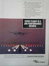 3/1991 PUB ALLIED SIGNAL AEROSPACE BENDIX KING AIR TRANSPORT AVIONICS AIRLINE AD