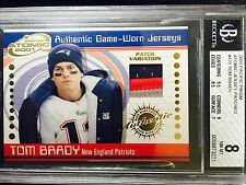 2001 TOM BRADY Pacific Prism ATOMIC JERSEY PATCH #125 *HIS 1ST JERSEY CARD RARE!