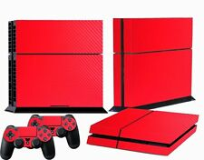 Red Carbon Fiber Custom Sticker for PS4 PlayStation 4 Console Controller Skins