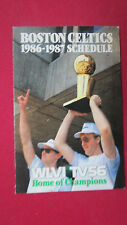 BOSTON CELTICS 1986-87 TROPHY HOIST  BY LARRY BIRD AT CITY HALL SCHEDULE-
