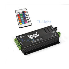 120W Music Audio Sound RGB LED Controller 2 Output Ports 12V 10A + IR Remote