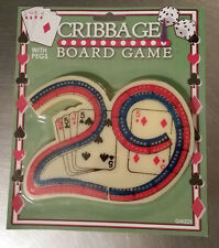 Cribbage Board Game with Pegs Travel Portable Fun Kid Child Adult Boardgame NEW