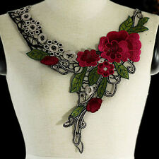 Hot Embroidery Applique Lace Flower For Neckline Collar Trims for women clothes