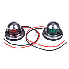 One Pair Marine Boat Yacht Light 12V Stainless Steel Bow Navigation Lights