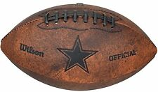 """NEW rare  DALLAS COWBOYS   9"""" LEATHER ENGRAVED FOOTBALL HOME, OFFICE, MAN CAVE"""