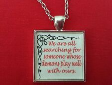 BDSM Necklace Jewelry Day Collar * Demons Play Well With Ours * Fetish Lifestyle