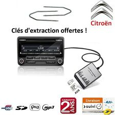 ADAPTATEUR USB SD AUX MP3 AUTORADIO CITROEN C2 C3 C4 C5 C6 C8 DS3 DS4 ET PICASSO