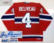 JEAN BELIVEAU SIGNED MONTREAL CANADIENS HOF JERSEY JSA