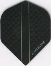 HARDCORE Black Carbon Dart Flights: 3 per set