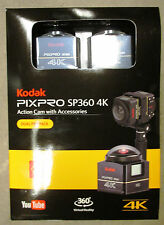 Kodak PixPro SP360 4K HD Wi-Fi Video Action Camera Camcorder - Dual Pro Pack Kit