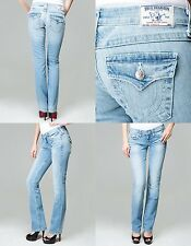 New True Religion Woman's Jeans Straight WFLPS Natural Basic Size 26 Made in USA