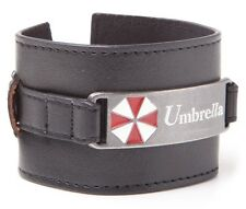 Resident Evil Umbrella Metal Plate Wristband | Official Gaming Merchandise [New]