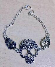 Sugar Skulls & Skull Bracelet, Vintage, Rockabilly, Steampunk, Day of the Dead